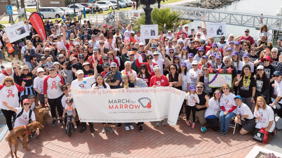 Introductory image: March for Marrow participants